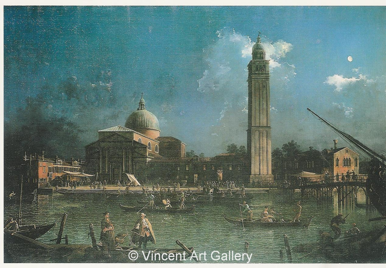A1002, CANALETTO, Night-time Celebration outside the Church etc.