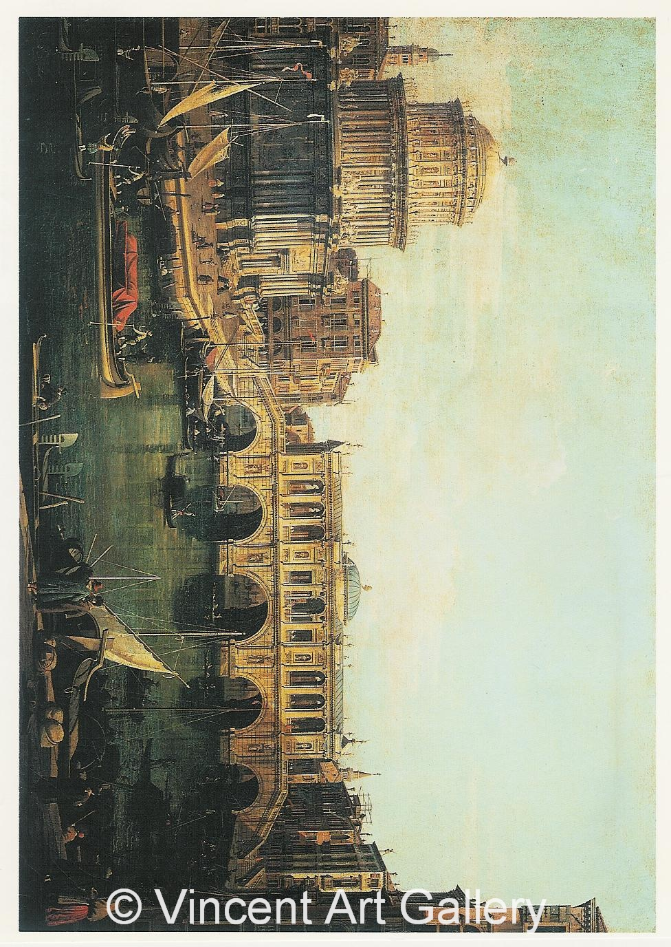A1010, Canaletto, Capriccio of the Grand Canal with an Imaginary
