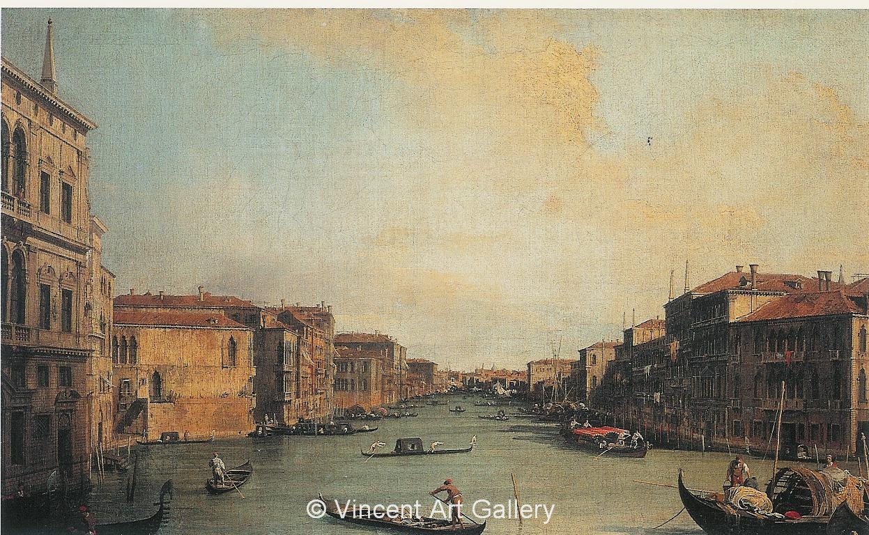 A1015, CANALETTO,Grand Canal from the Palazzo Balbi