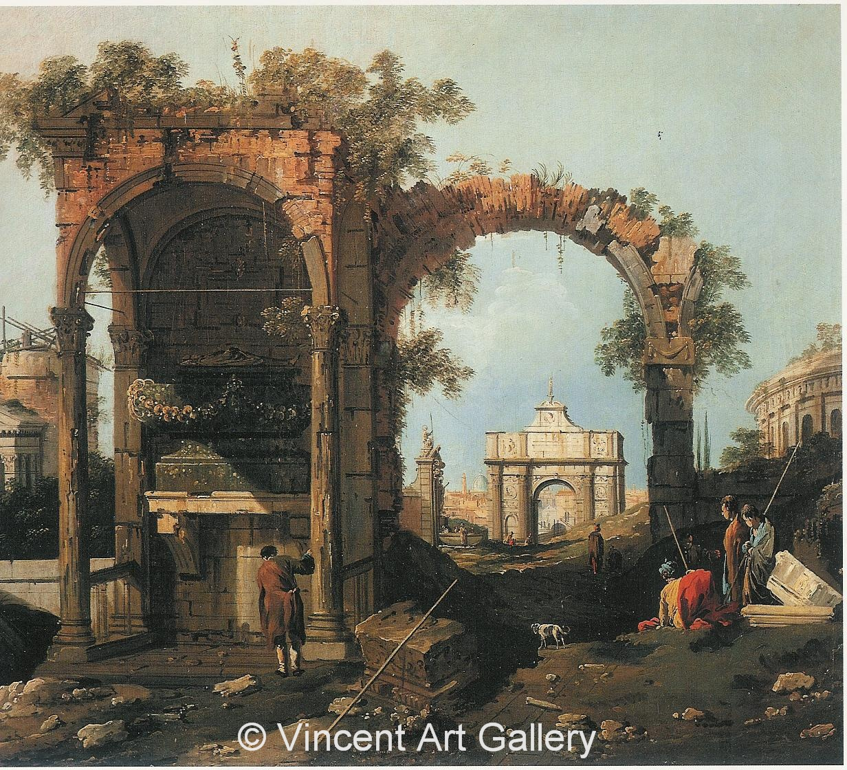 A1033, CANALETTO, Landscape with Ruins