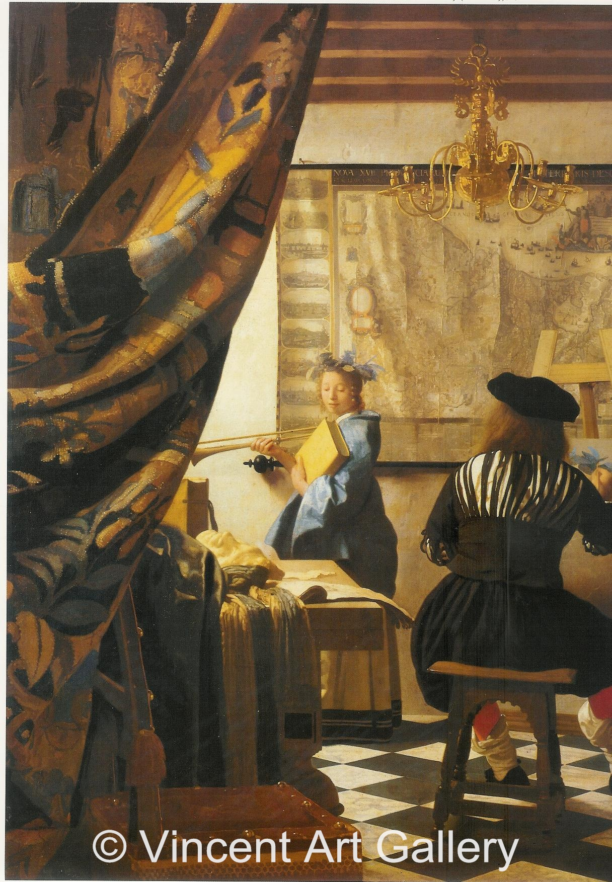 The artist 39 s studio or the art of painting by johannes for The art of painting