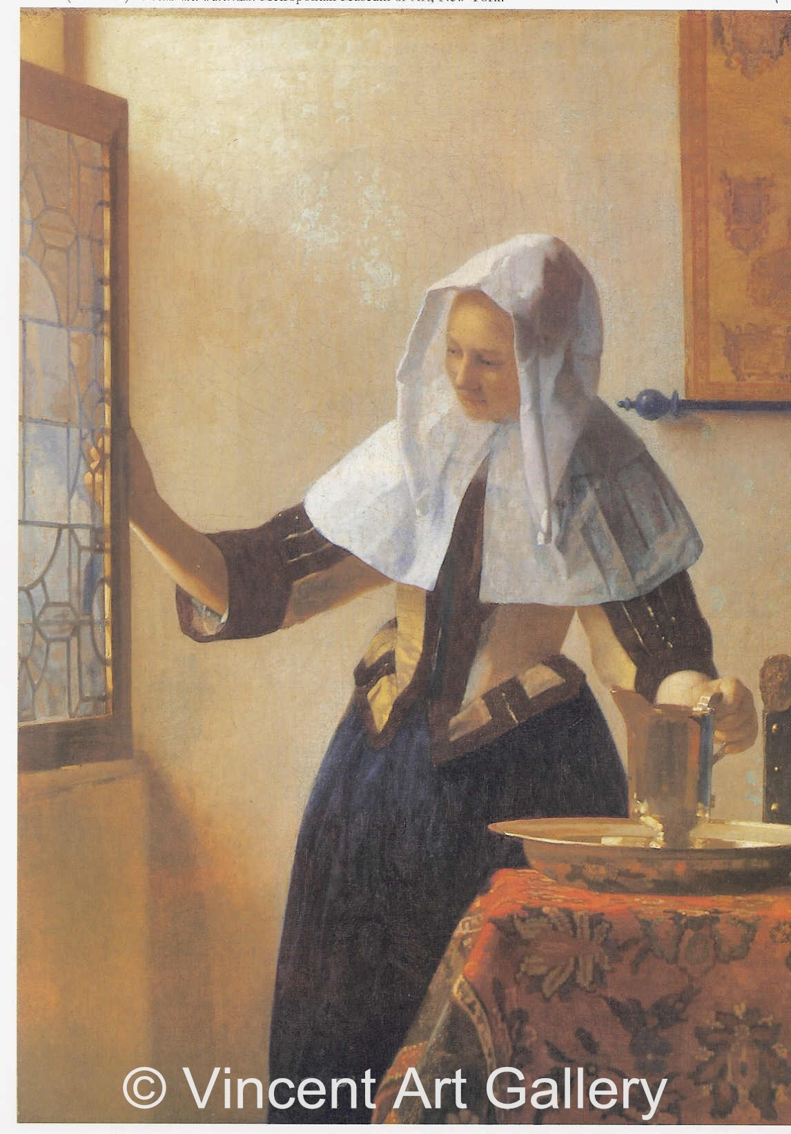 A113, VERMEER, Woman with a Water Jug, Left Side