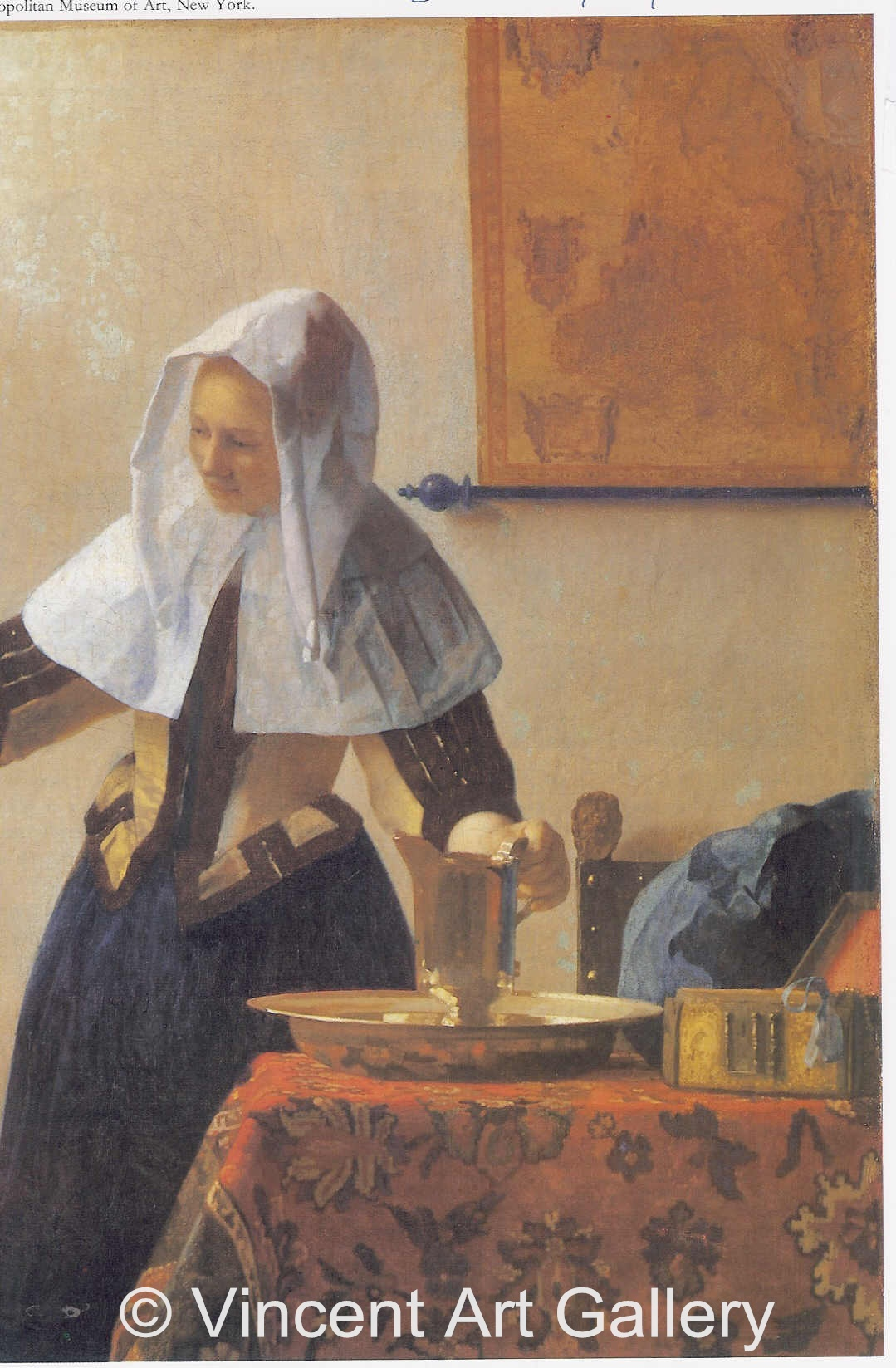 A113, VERMEER, Woman with a Water Jug, Right Part