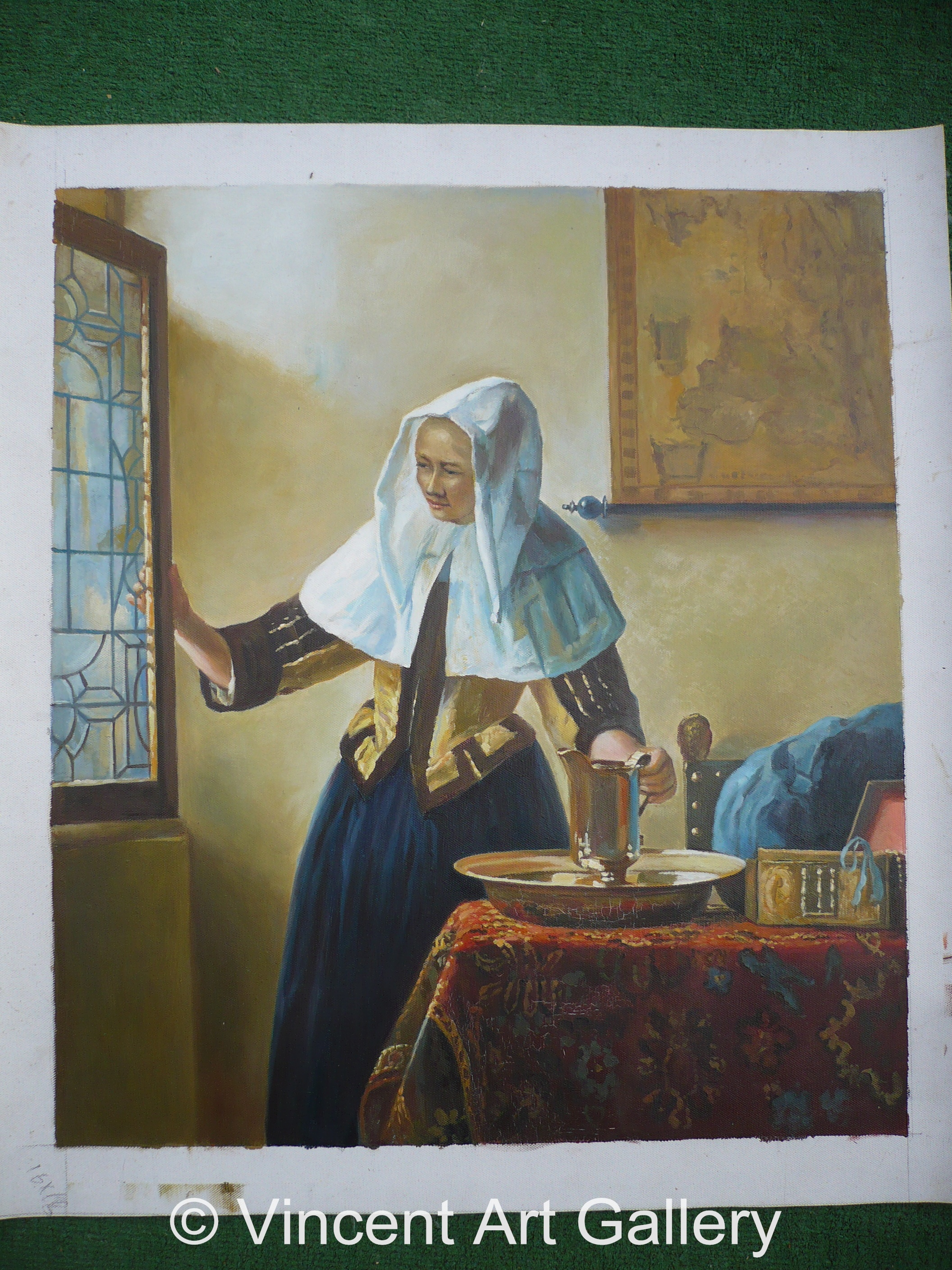 A113, Vermeer, Young Woman with a Water Jug 001