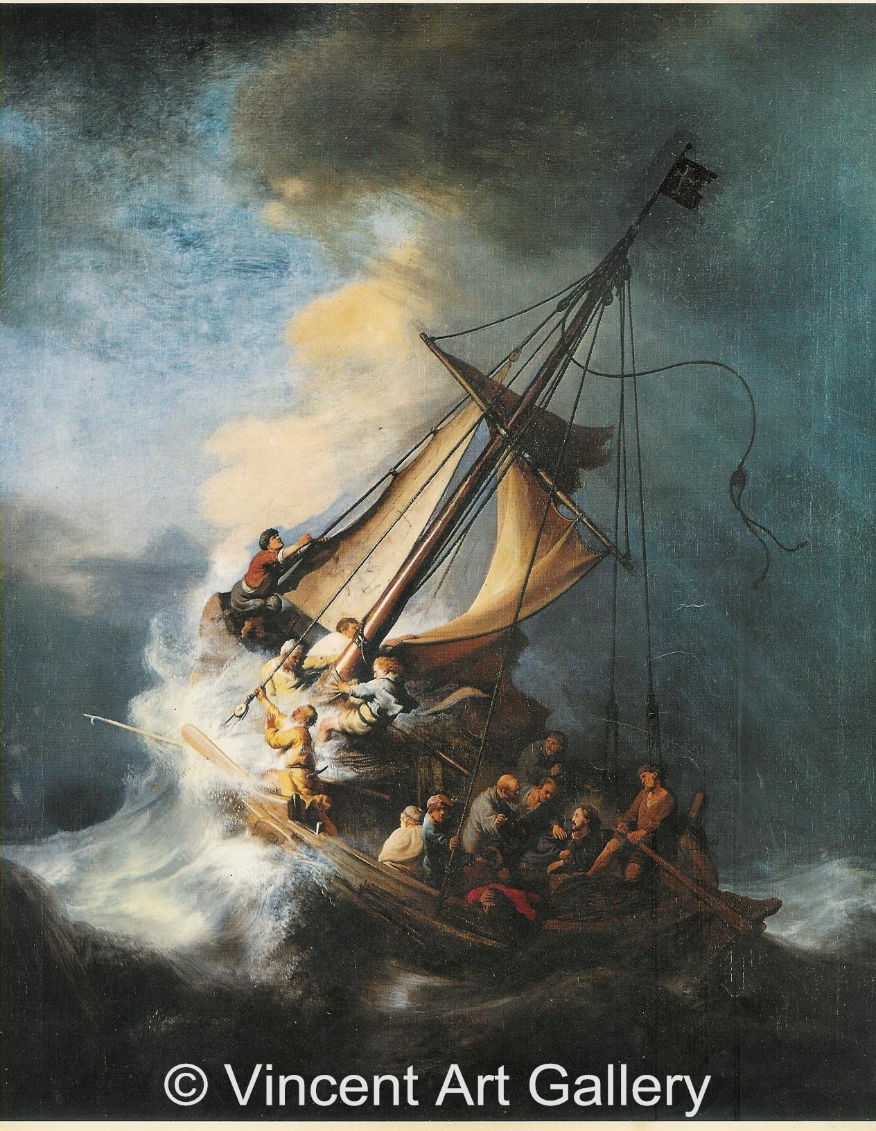 A1347, REMBRANDT, Christ in the Storm on the Sea of Galilee