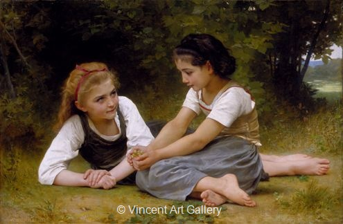 A1410, BOUGUEREAU, The Nut Gatherers, 1882