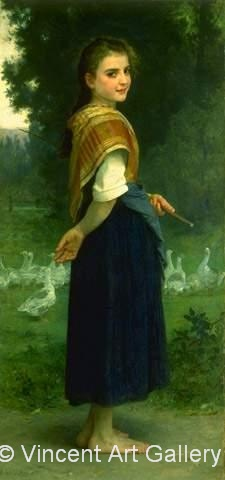 A1411, BOUGUEREAU, The Goose Girl