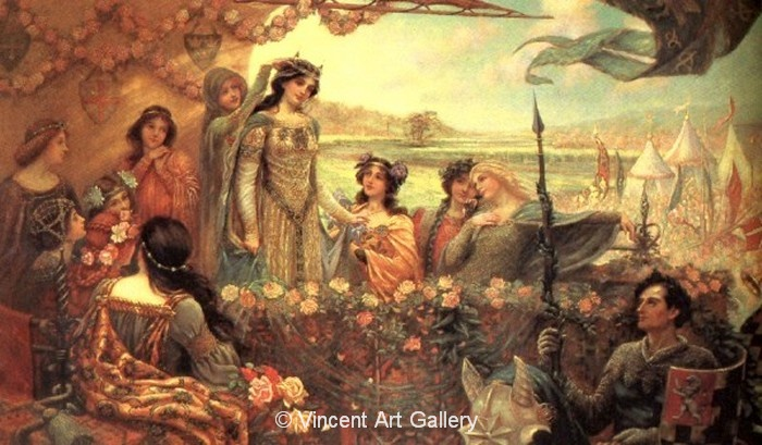 A1503, DRAPER, Lancelot and Guinevere, 1899,
