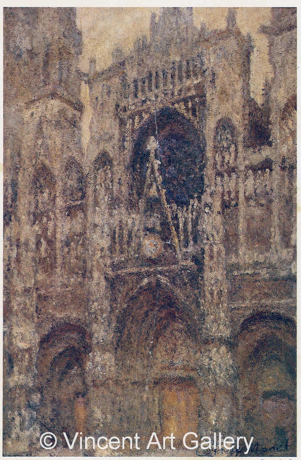A175, MONET, Cathedral full Sunlight
