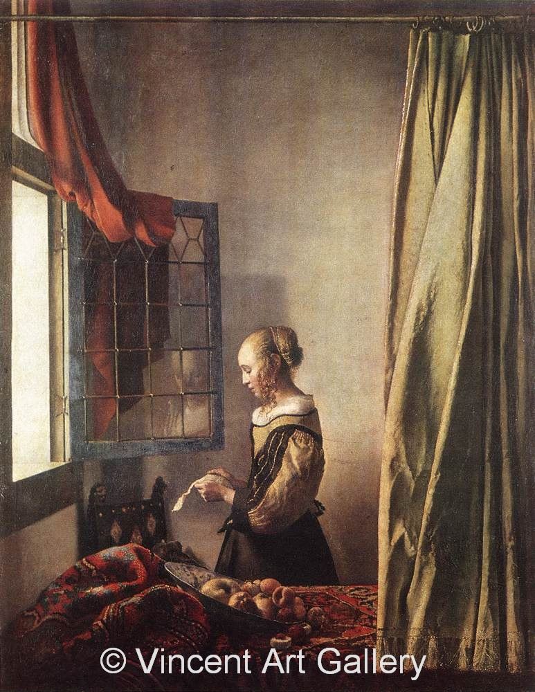 A1812, VERMEER, Girl Reading a Letter at an Open Window