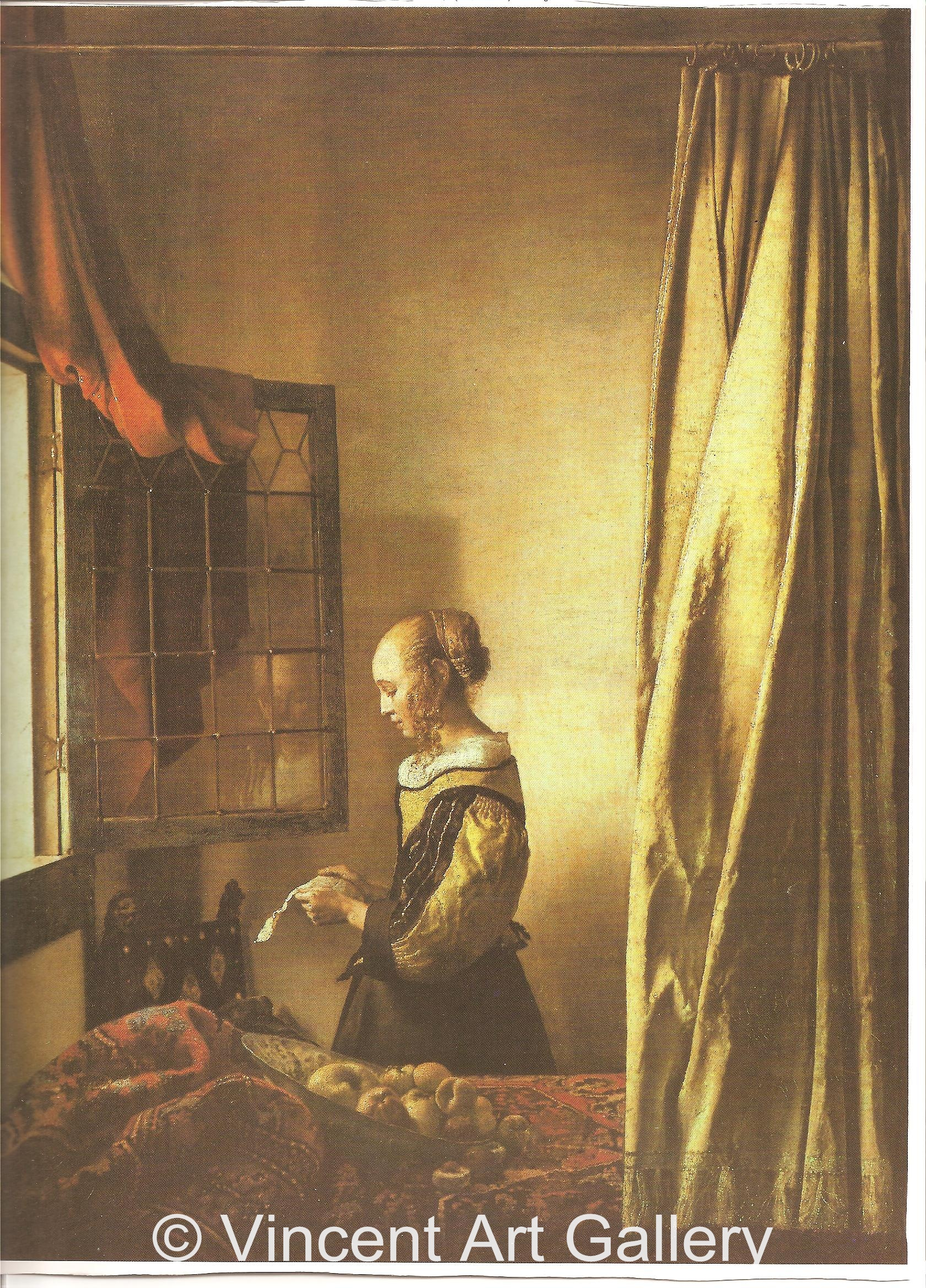 A1812, VERMEER, Girl reading a Letter at an Open Window 001
