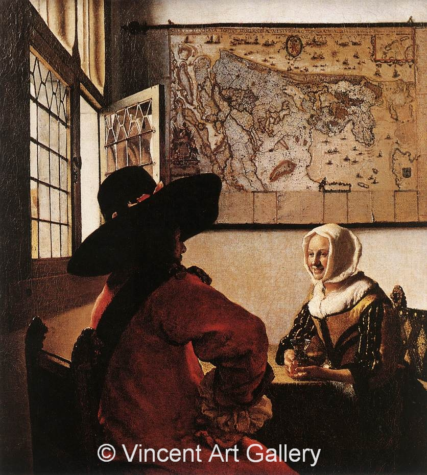A1813, VERMEER, Officer with a Laughing Girl