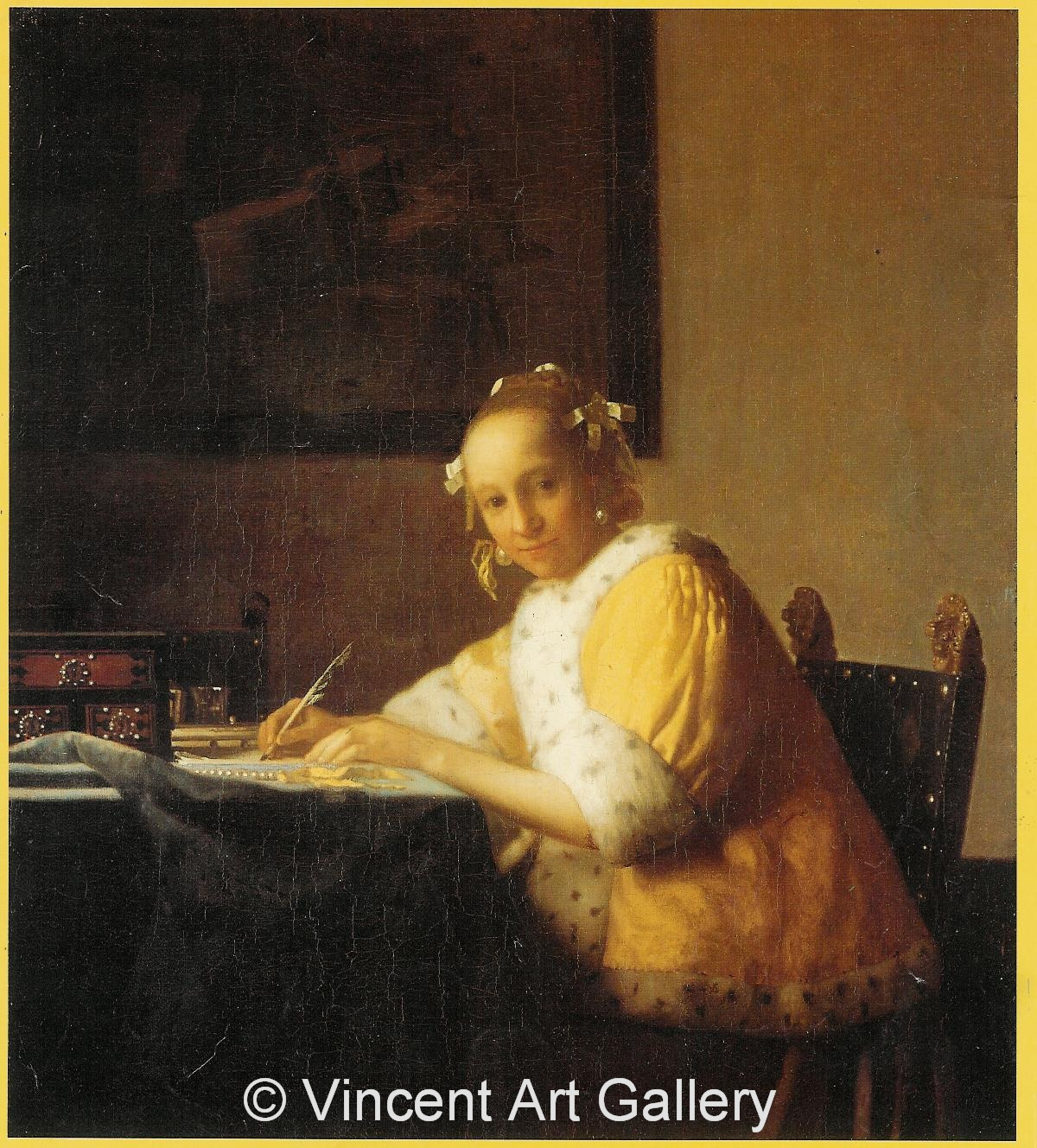A1815, VERMEER, A Lady writing a Letter 001