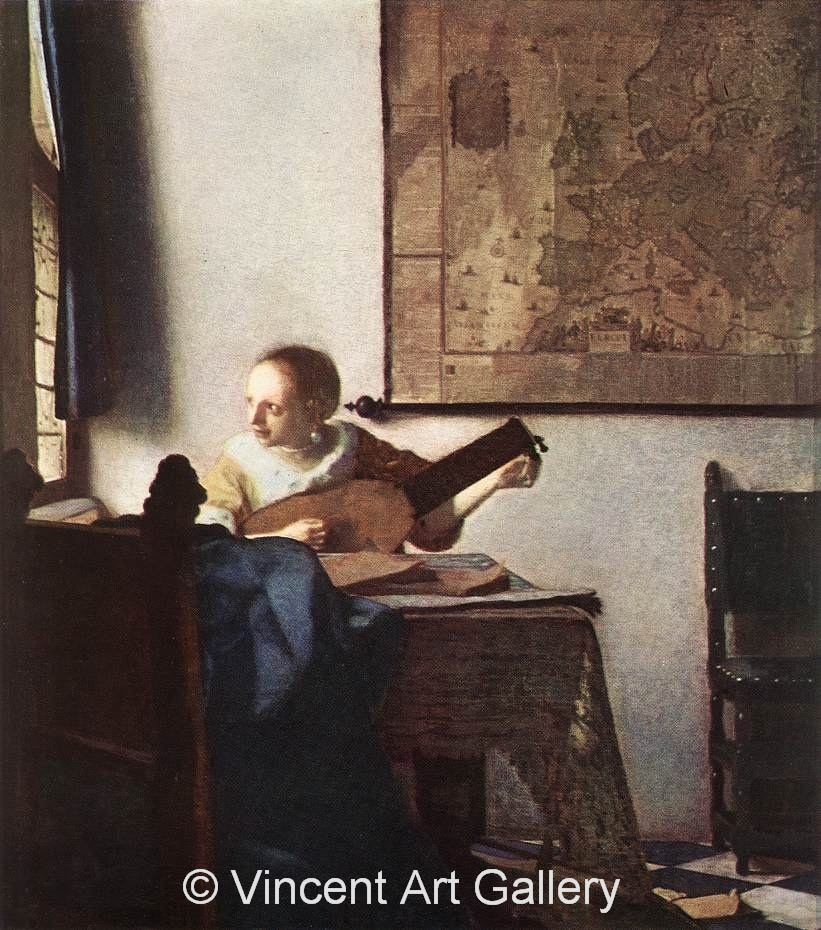 A1817, VERMEER, Woman with a Lute near a Window