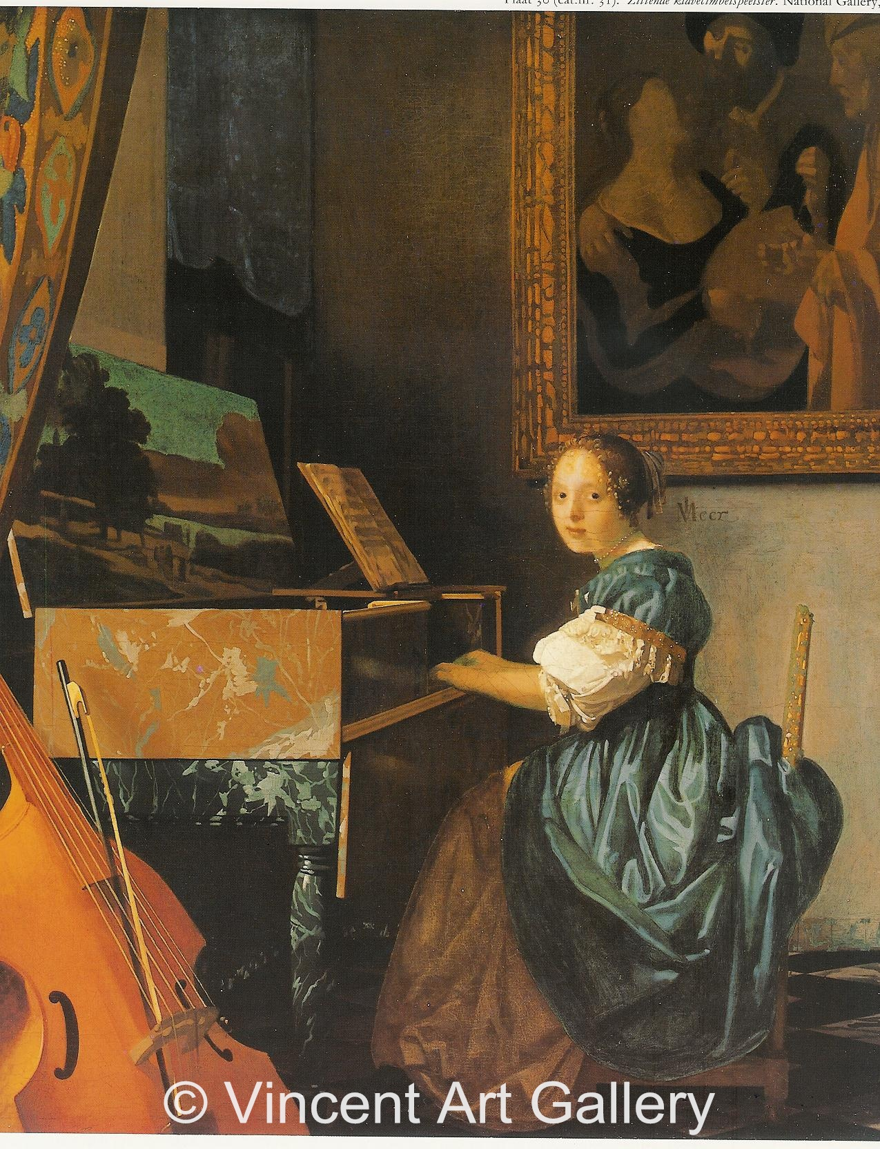 A1829, VERMEER, part of Lady seated at a Virginal