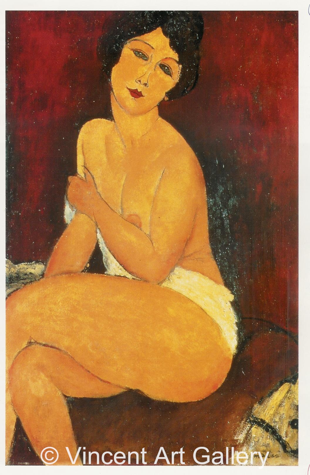 A266, MODIGLIANI, Nude, Sitting on a Couch