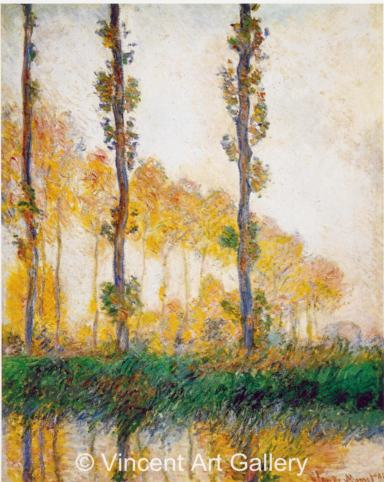 A2800, MONET, Three Trees in Autumn