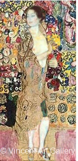 A296, KLIMT, The Dancer with other background