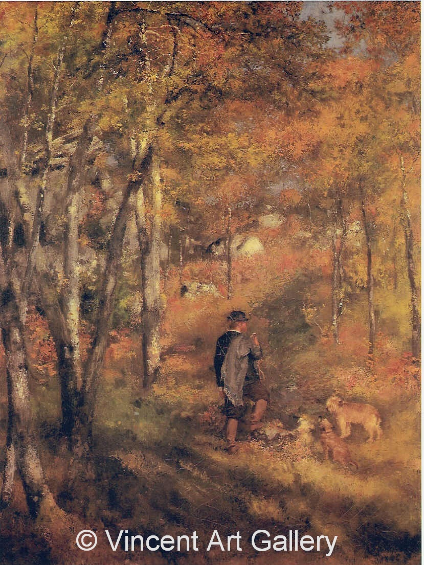 A2995, RENOIR, Jules Le Coeur in Fontainebleau Forest