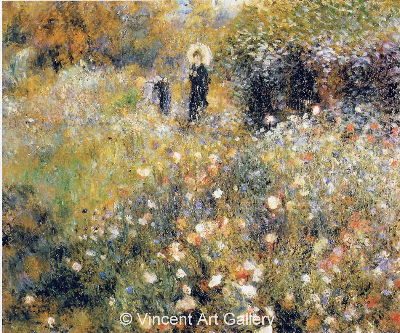 A3016, RENOIR, Woman with a Parasol in the Garden