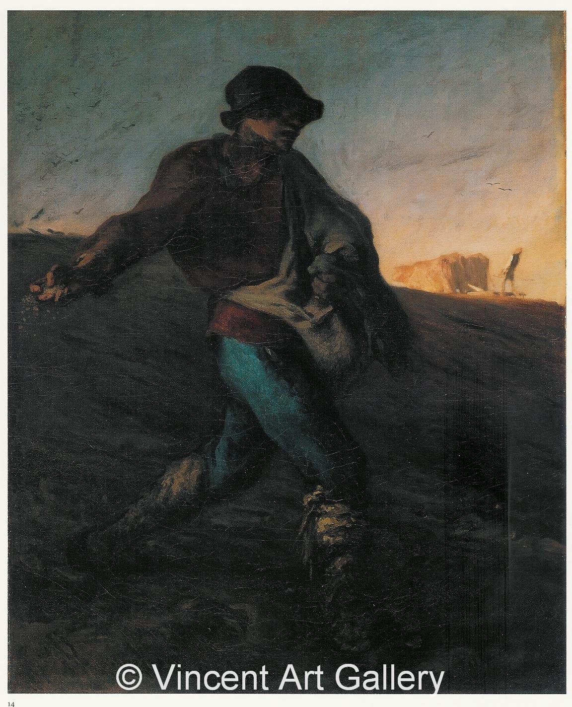 A3447, MILLET, The Sower 001