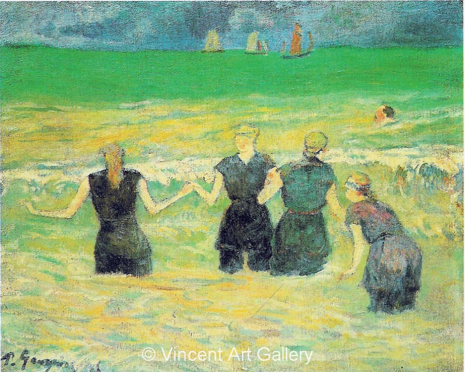 A3584, GAUGUIN, Bathers at Dieppe, 1885