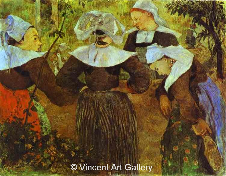 A3586, GAUGUIN, The Four Breton Girls. c.1886