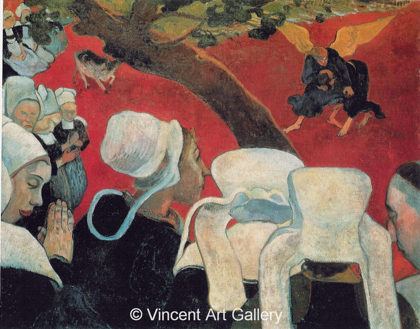 A3599, GAUGUIN, Vision after the Sermon, Jacob Wrestling with the Angel