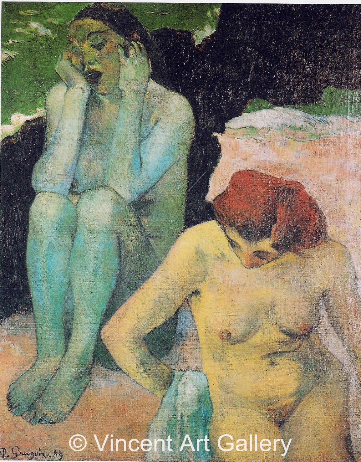 A3620, GAUGUIN, Woman Bathing, Life and Death, 1889