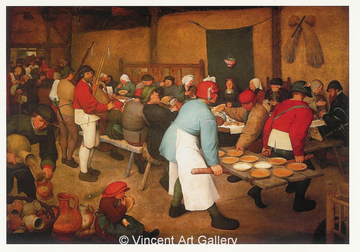 The Peasant Wedding By Pieter Bruegel Elder