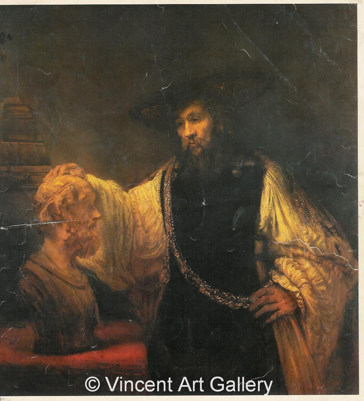A577, REMBRANDT, Aristotle contemplating a Bust of Homer