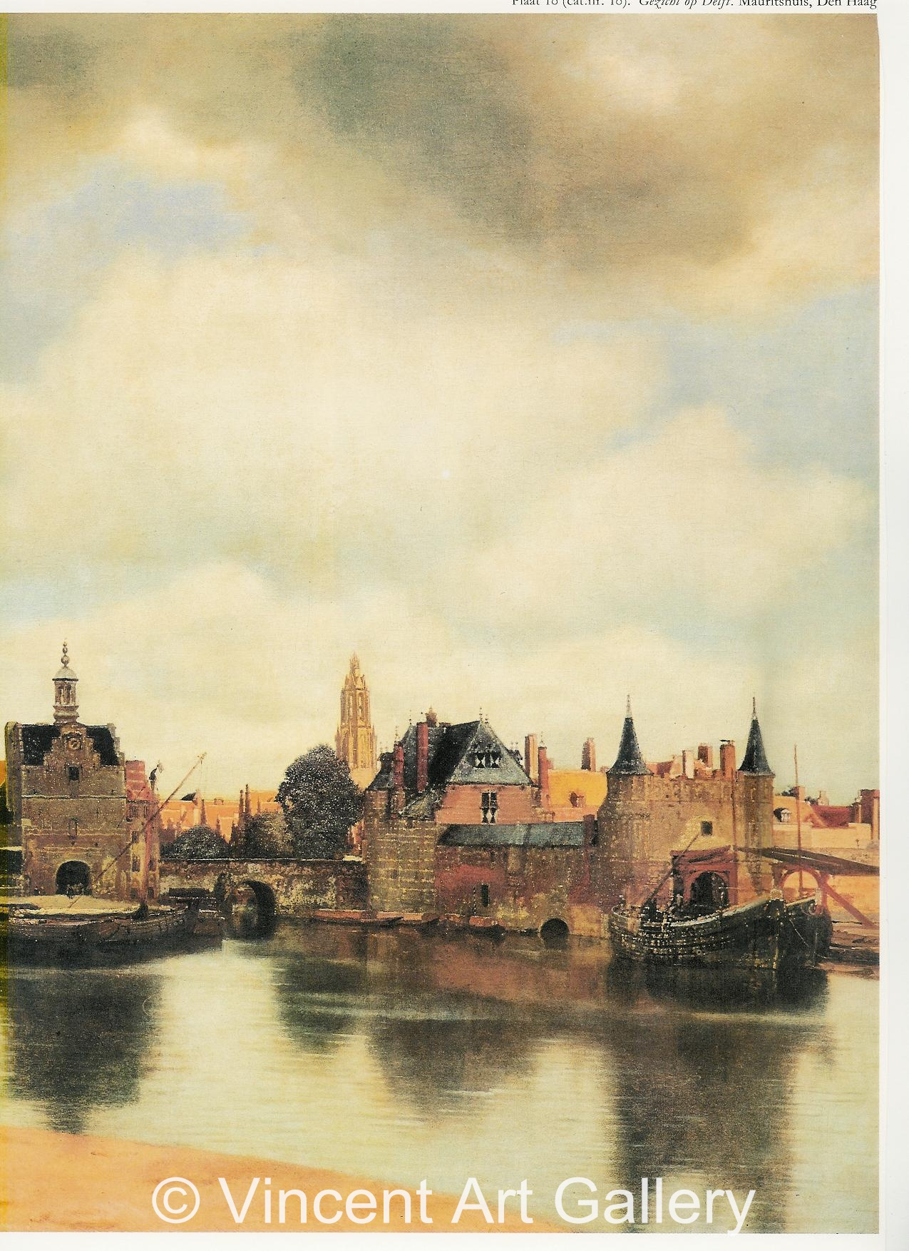 A635, VERMEER, View of Delft, DETAIL 1