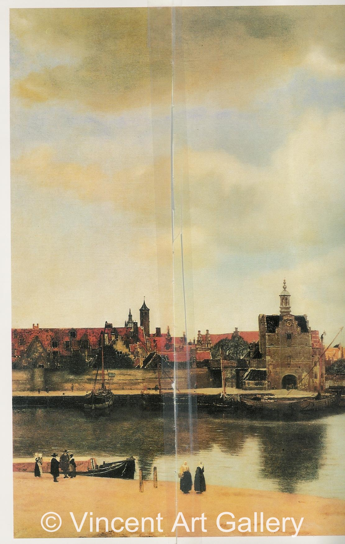 A635, VERMEER, View of Delft, DETAIL 2