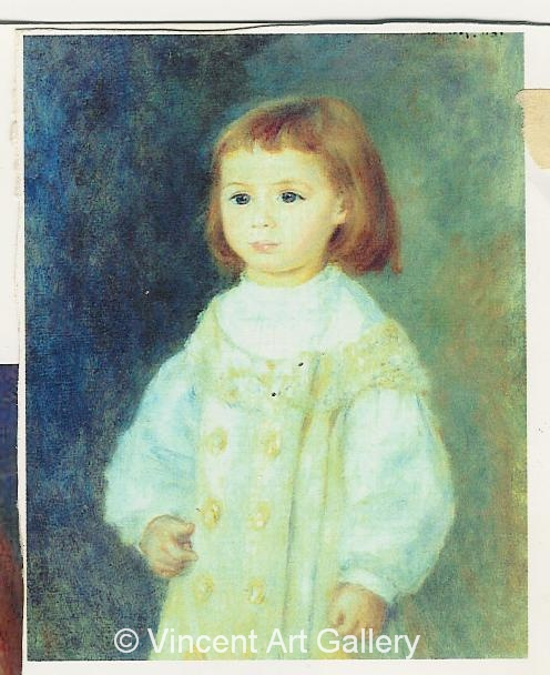 A665, RENOIR, Child in White, Lucie Berard