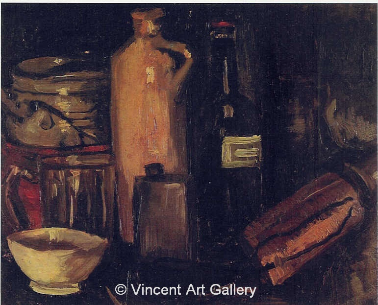 JH 528 - Still Life with Pots, Jar and Bottles