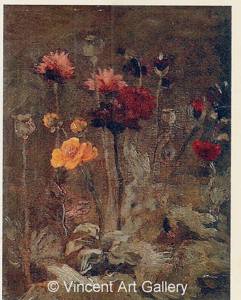 JH1094, Still Life with Scabiosa and Ranunculus
