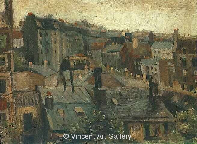 JH1099, View of Roofs of Paris, v. Gogh