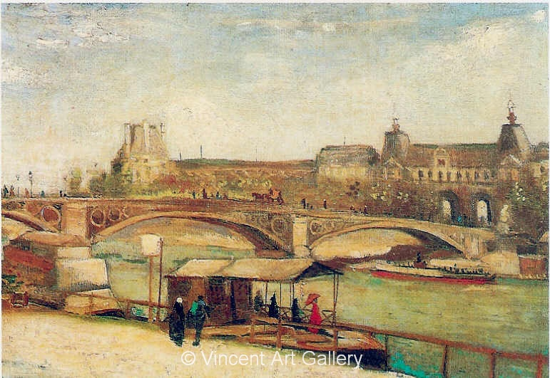 JH1109, The Pont du Carrousel and the Louvre,