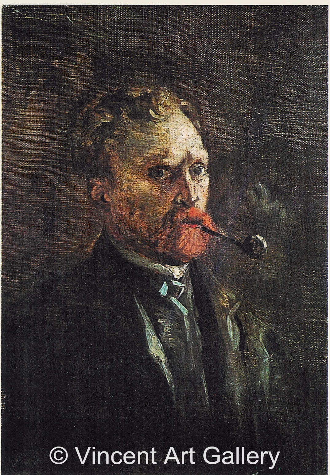 JH1195, Self-Portrait with Pipe