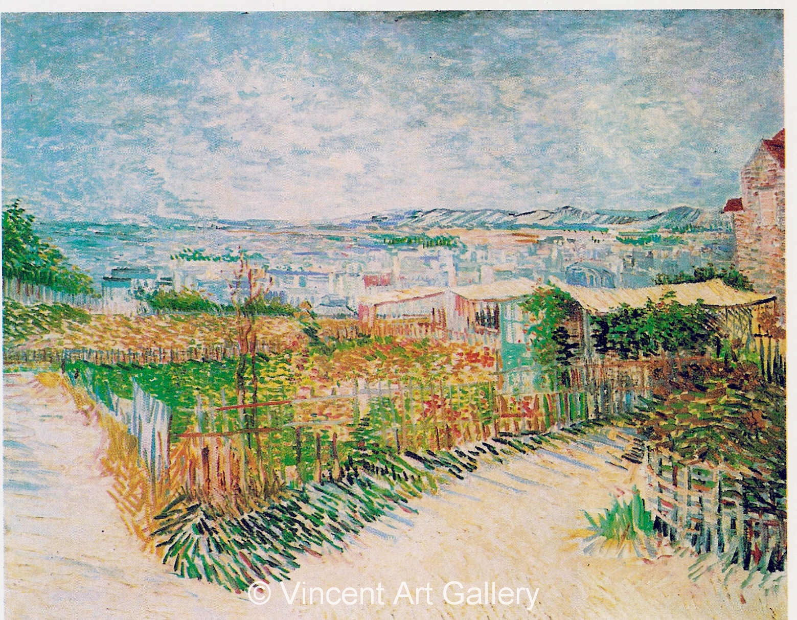 JH1246, Vegetable Gardens at Montmartre