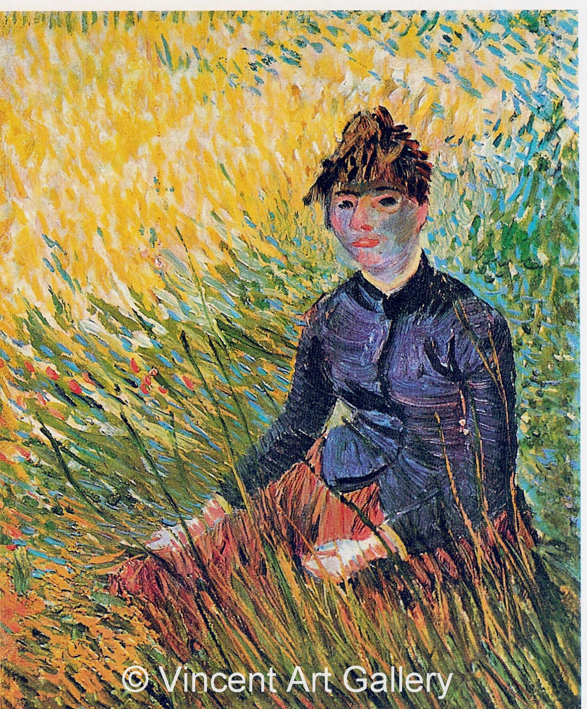 JH1261, Woman Sitting in the Grass