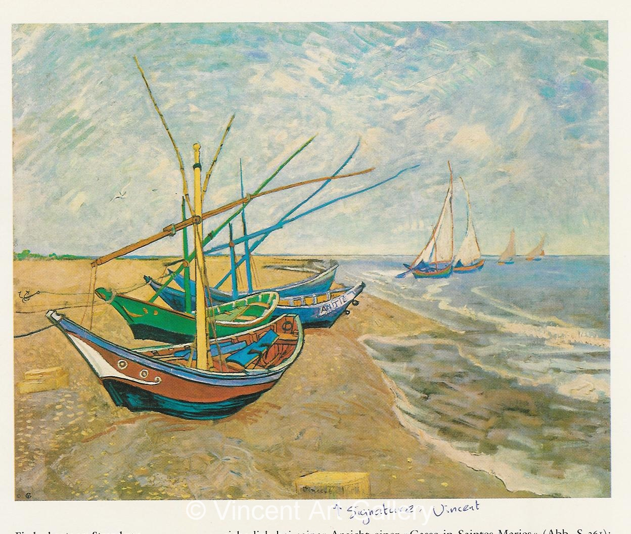 JH1460, Fishing Boats on the Beach at Saintes-Maries
