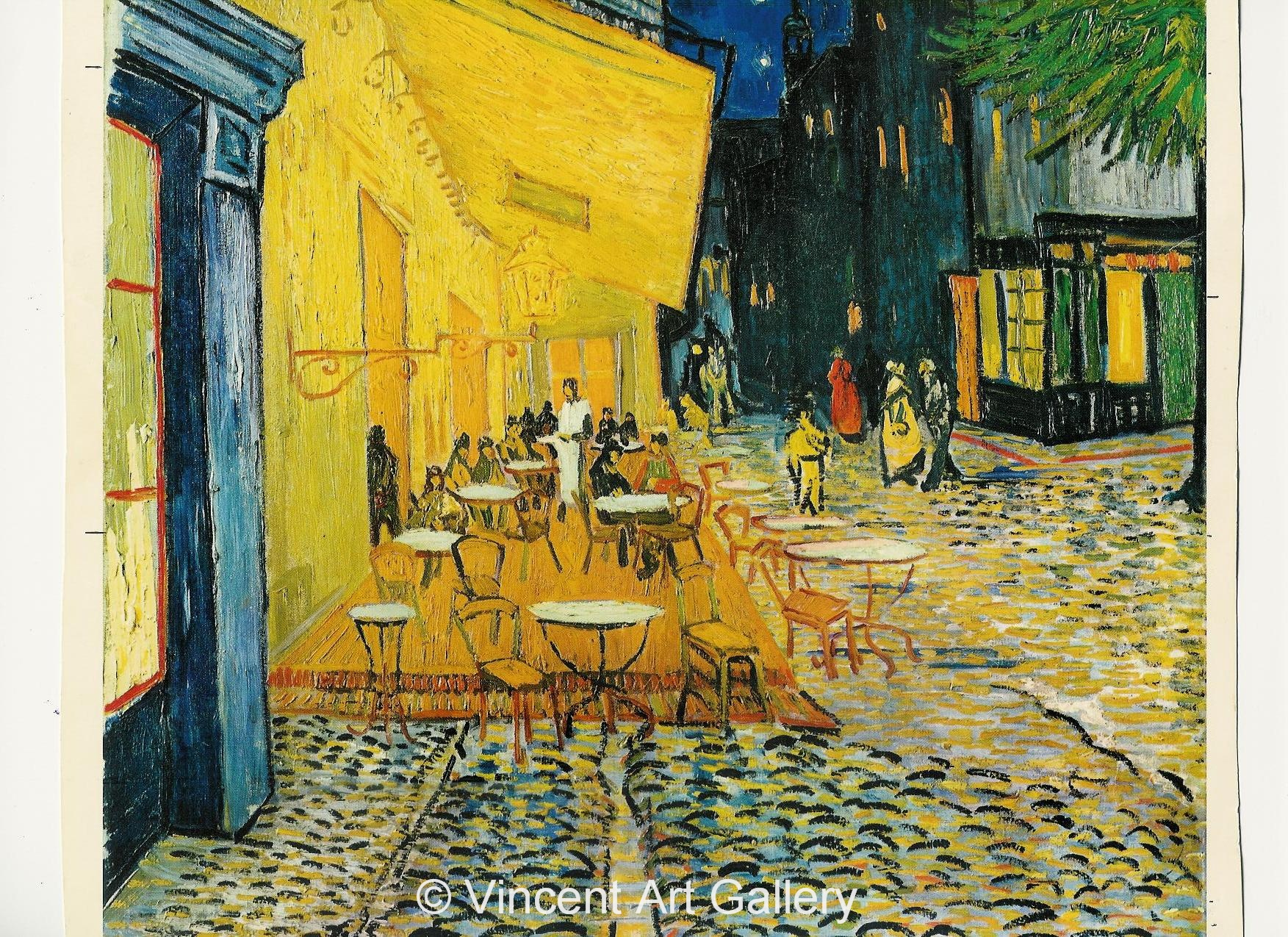 JH1580, Cafe Terrace at the Place du Forum, Arles, at Night .1