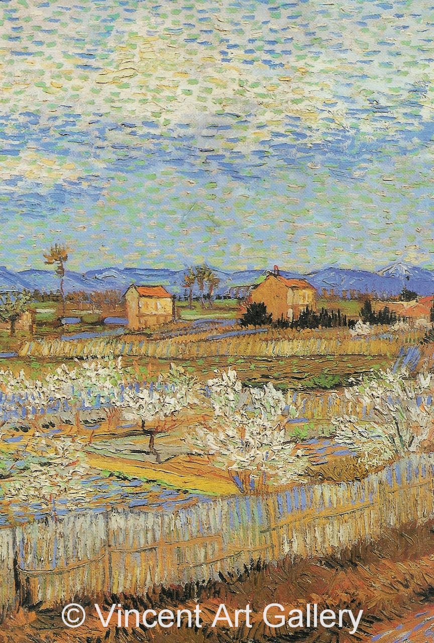 JH1681, La Crau with Peach Trees in Blossom (Detail 1)