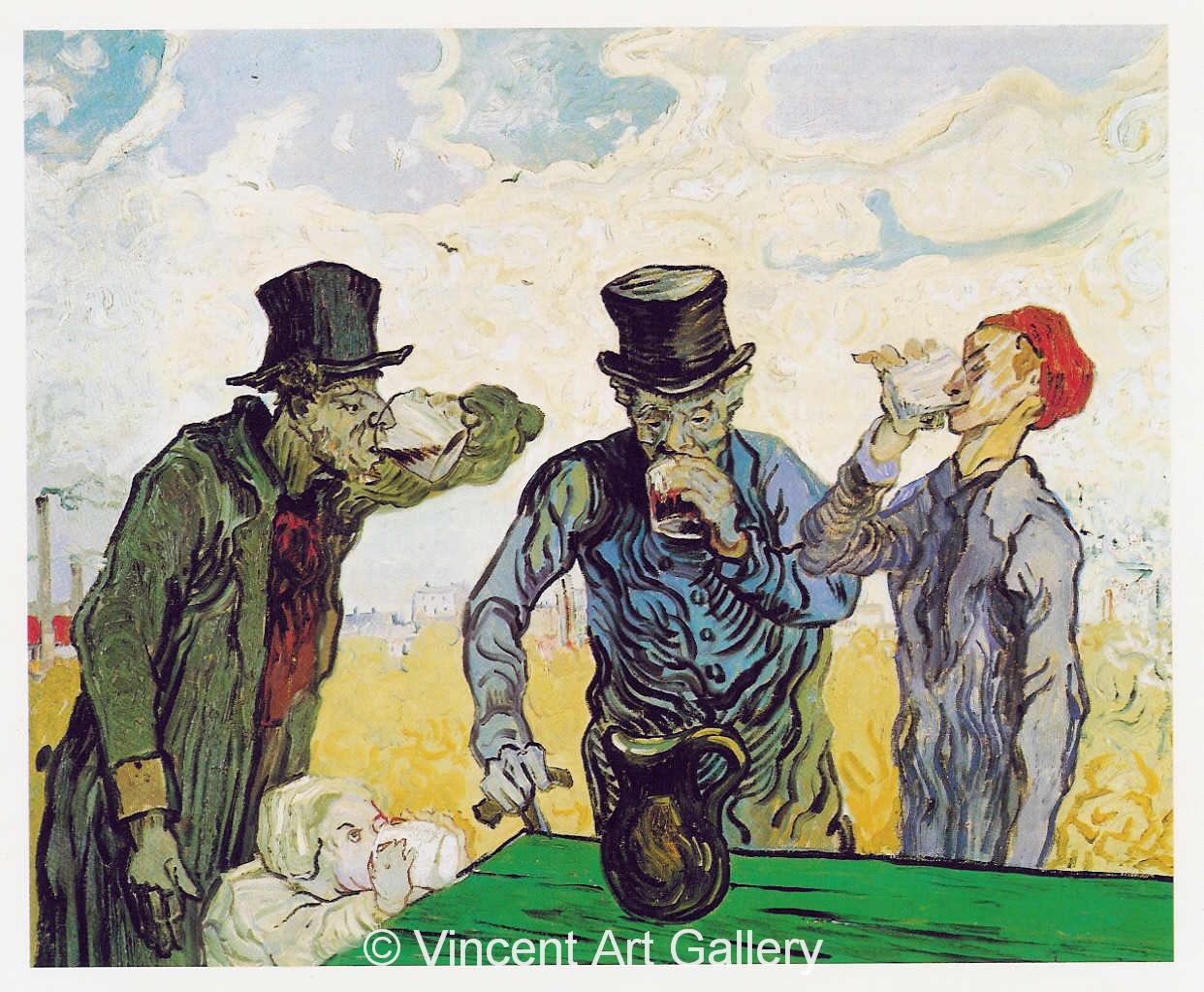 JH1884, The Drinkers, after Daumier. v. Gogh.jpg