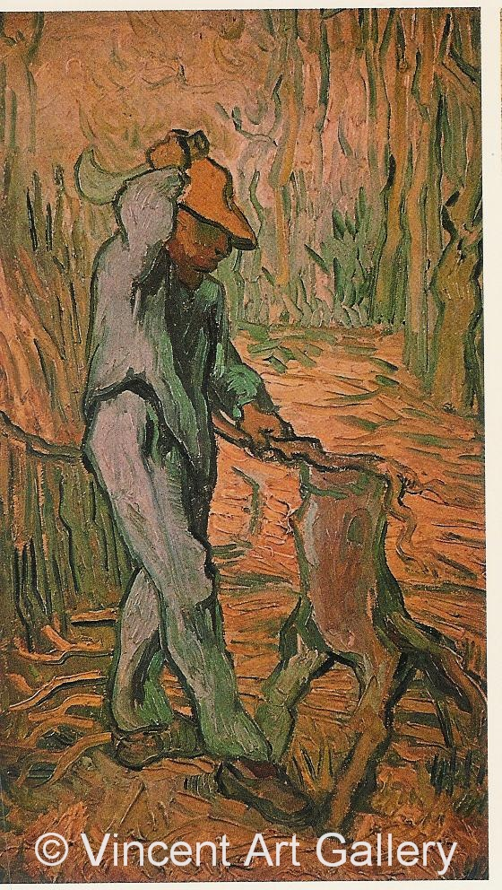 JH1886, The Woodcutter, (after Millet)