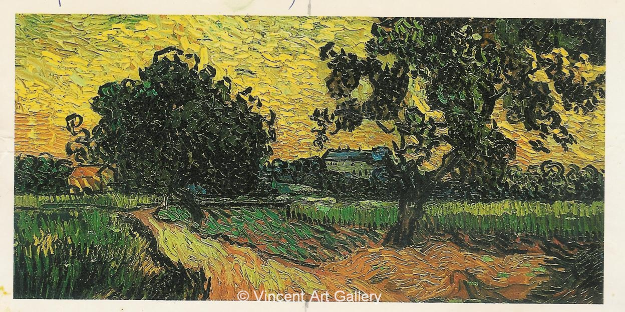 JH2040, Landscape with the Chateau of Auvers at Sunset