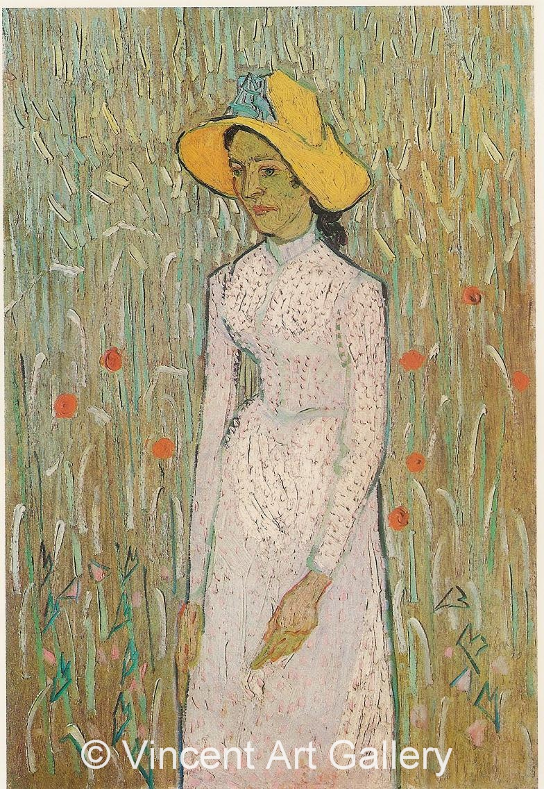 JH2055, Young Girl Standing Against a Background of Wheat