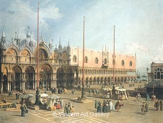 Piazza di San Marco by   Canaletto