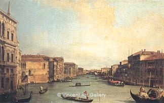 Grand Canal from the Palazzo Balbi by   Canaletto